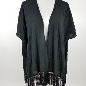 Victoria's Secret Black Open Cardigan Short Sleeve